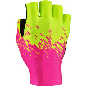 Supacaz SupaG Short Finger Gloves neon yellow/neon pink